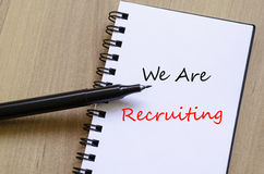 We are recruiting concept. Notepad Stock Photography
