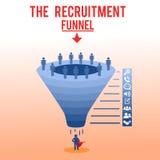 Recruiting and Hiring Funnel Vector Illustration vector illustration
