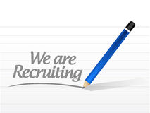 We are recruiting message illustration design Stock Image