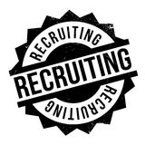 Recruiting rubber stamp Stock Photo