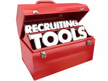 Recruiting Tools Resources Toolbox. Recruiting Tools Resources Find Workers Employees Job Toolbox Stock Photo