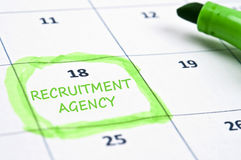 Recruitment agency mark Royalty Free Stock Images