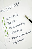 Recruitment agency need. Recruitment agency not checked in to do list Royalty Free Stock Photography