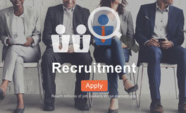Recruitment Apply Homepage Human Resources Concept.  Royalty Free Stock Photography