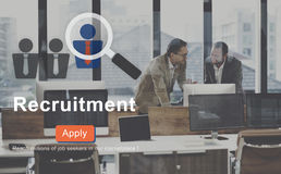 Recruitment Apply Homepage Human Resources Concept Royalty Free Stock Photos
