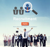 Recruitment Apply Homepage Human Resources Concept Stock Images