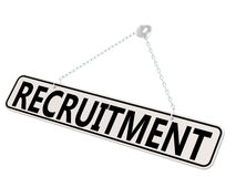 Recruitment banner isolated on white Stock Images