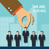 Recruitment a candidate Stock Photos