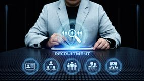 Recruitment Career Employee Interview Business HR Human Resources concept.  Royalty Free Stock Photo