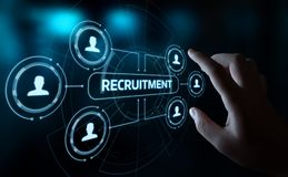 Recruitment Career Employee Interview Business HR Human Resources concept.  Royalty Free Stock Photos