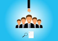 Recruitment. And choosing an employee royalty free illustration