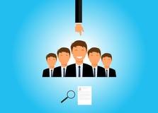 Recruitment. And choosing an employee Stock Image
