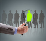 Recruitment choosing the right people. Recruitment and job search concept for choosing the right people and human resources Royalty Free Stock Photo