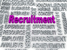 Recruitment concept Stock Image