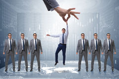 The recruitment concept with hand picking employee Stock Images
