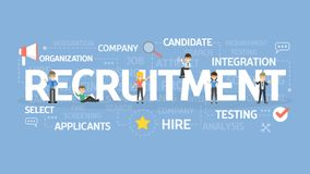 Recruitment concept illustration. Idea of hiring and finding new staff Stock Photos