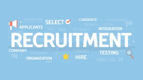 Recruitment concept illustration. Idea of hiring and finding new staff Stock Images