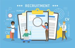 Recruitment concept illustration. Idea of new staff Stock Photography