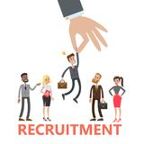Recruitment concept illustration. Picking up the best candidate Stock Images