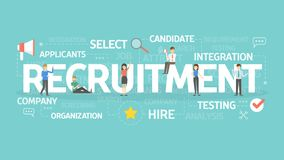 Recruitment concept illustration. Idea of hiring and finding new staff Stock Photography