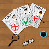 Recruitment concept vector. Interview and hiring employee, business research illustration Royalty Free Stock Image