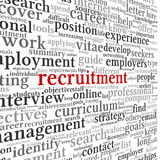 Recruitment concept in word tag cloud Royalty Free Stock Image
