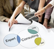 Recruitment Consulting Venn Diagram Concept Stock Photography