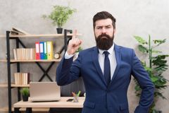 Recruitment department. Job interview. Welcome team member. Recruiter professional occupation. HR manager. Man bearded royalty free stock photo