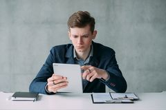 Recruitment department young confident hr manager stock image