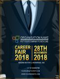 Recruitment design poster template with business suit and tie stock illustration