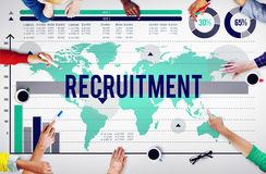 Recruitment Employment Hiring Job Staff Concept Royalty Free Stock Photos
