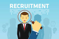 Recruitment for Employment Stock Photo