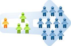 Recruitment growth expansion illustration. Recruitment people multilevel expansion growth increase illustration Royalty Free Stock Photos