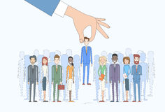 Recruitment Hand Picking Business Person Candidate People Group Stock Image
