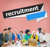 Recruitment Hiring Career Human Resources Concept.  Stock Image