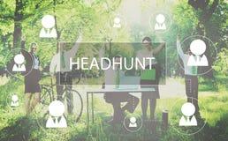 Recruitment Hiring Career job Emplyment Concept. Business people teamwork green nature Royalty Free Stock Photos