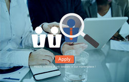 Recruitment Hiring Employment Job Seekers Concept Stock Photography