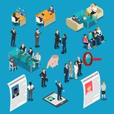 Recruitment Hiring HR Management Isometric People Stock Photography