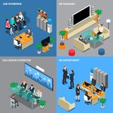 Recruitment Hiring HR Management Isometric People Stock Photos