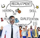 Recruitment Hiring Skill Qualification Job Concept Royalty Free Stock Photos