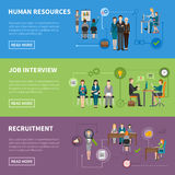 Recruitment HR People Horizontal Banners Stock Image