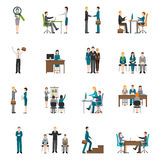 Recruitment HR people Icons Set Stock Image