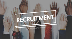 Recruitment Human Resources Employment Hiring Concept Stock Photography