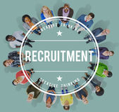 Recruitment Human Resources Hiring Employment Concept Stock Image
