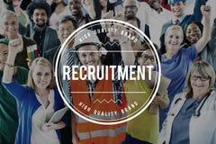 Recruitment Human Resources Hiring Employment Concept royalty free stock photos