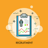 Recruitment, human resources and personnel selection concept, curriculum vitae icon Stock Photography