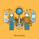 Recruitment Icon Flat Design Concept Stock Photography