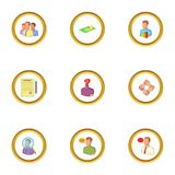 Recruitment icons set, cartoon style. Recruitment icons set. Cartoon style set of 9 recruitment vector icons for web design Royalty Free Stock Image