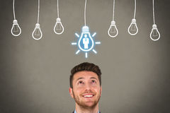 Recruitment and Idea over Human Head Royalty Free Stock Image