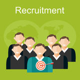 Recruitment illustration. Royalty Free Stock Image